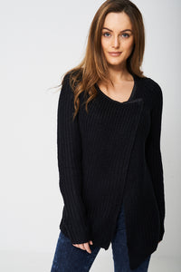 Wrap Front Knitted Cardigan