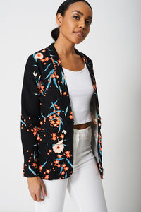 All Over Floral Print Blazer