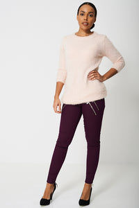 Fluffy Super Soft Touch Jumper Dress in Sweet Pink - My Berry Glam : Shop Till You Drop