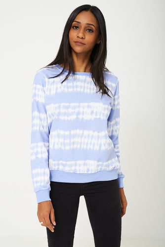 BIK BOK Jumper in Two Tone Blue/White