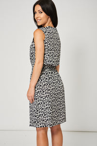 Leopard Pattern Allover Dress With Black Lace Detail - My Berry Glam : Shop Till You Drop