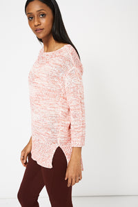 Red Coral And White Ex-Branded Jumper Available In Plus Sizes - My Berry Glam : Shop Till You Drop