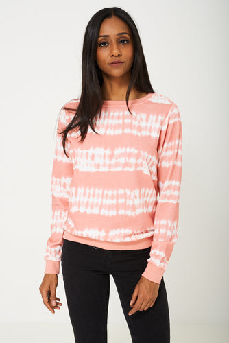 BIK BOK Jumper in Two Tone Pink/White