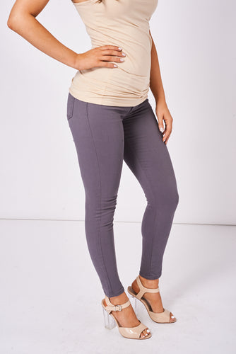 BIK BOK Zip Fly Low Rise Super Skinny Jeans In Grey - My Berry Glam : Shop Till You Drop