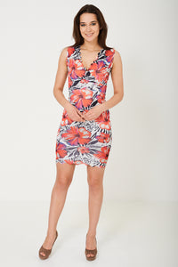 Sleeveless Bodycon Dress in Floral Print - My Berry Glam : Shop Till You Drop