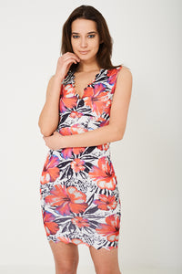 Bodycon Dress in Floral Print