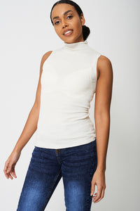 Ex branded Sleeveless Cream Polo Jersey - My Berry Glam : Shop Till You Drop