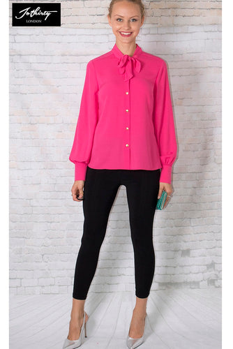 JOTHIRTY Bow Tie Neck Shirt In Pink