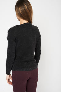 Soft And Fluffy Dark Grey Ex Branded Jumper - My Berry Glam : Shop Till You Drop