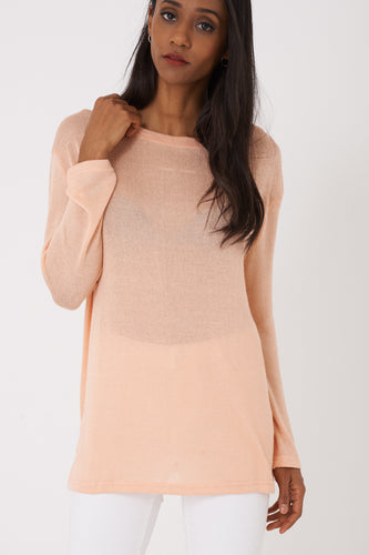 BIK BOK Lightweight Knitted Peach Top