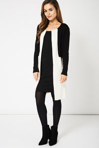 Black And Cream Soft And Stretchy Overlay Ex-Branded Cardigan - My Berry Glam : Shop Till You Drop