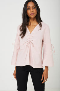 Volume Sleeve Blouse in Pink