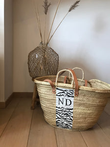 X05 - Zebra pattern + initials (2 letters) - (bag not included)