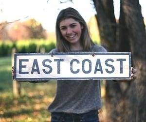 East Coast wood sign - Brandy Melville Signs | Weathered Signs
