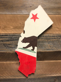 California Golden State Bear Wood Sign