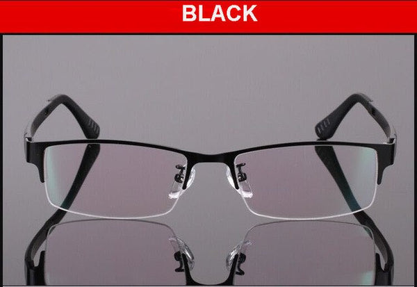 New spectacle eyeglasses metal Half-rim optical frames eyewear for men women Prescription Myopia glasses oculos