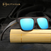 KITHDIA Polarized Bamboo Sunglasses Men Wooden Sunglasses Brand Designer Mirror Sun Glasses Oculos de sol masculino #