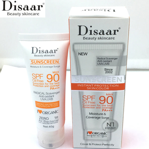 Disaar Beauty Skin Care Facial Sunscreen Cream Spf Max 90 Oil Free Radical Scavenger Anti Oxidant UVA/UVB 40g  Sunblock