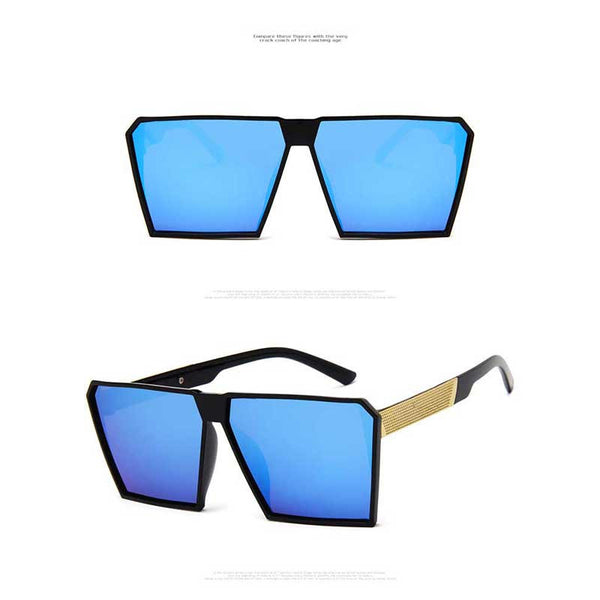 Oversized Sunglasses Men Brand Designer High Quality Vintage Glasses Fashion Women Sun glasses Square Big Frame Coating Eyewear