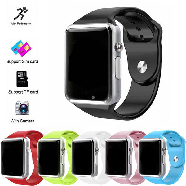 A1 WristWatch Bluetooth Smart Watch Relogio Android Smartwatch Support SIM TF Phone Call Sport Pedometer Watch with Touch Screen