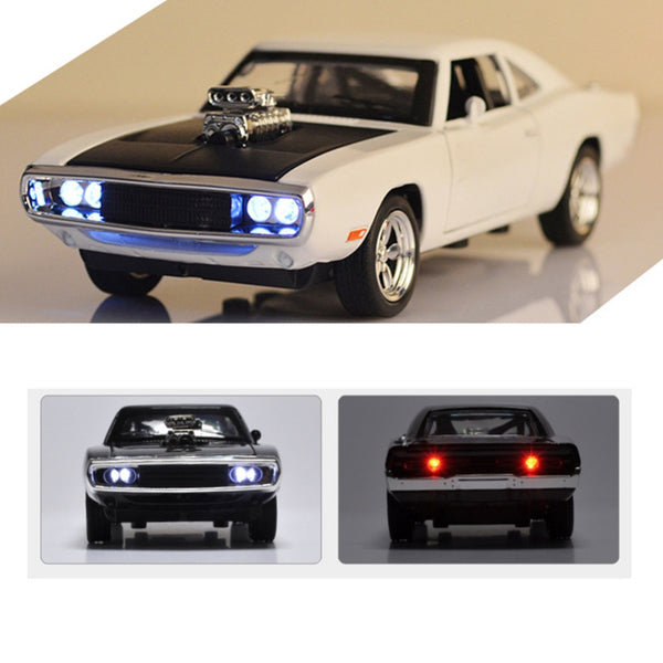 Hot 1:32 Dodge Charger Diecast Metal Model Car Sound and Light Pull-back Vehicle Toy for boy children and kids gift 4 colors