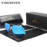 KINGSEVEN Aluminum HD polarized aviation Sunglasses Women Men Driving sun Glasses Vntage oculos de sol