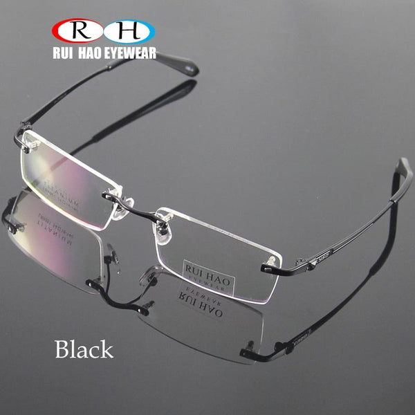 Unisex Eyeglasses Men Rimless Glasses Frame Titanium Eyeglasses Frames Optical Spectacles Eyewear Frames oculos of grau
