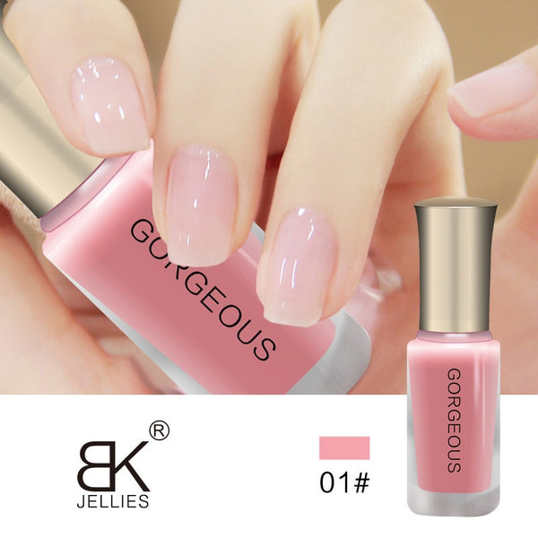 New Nail Polish Candy Nude Color Quick-drying Translucent Jelly Nail Polish 10ML Environmental Protection Lasting Unpeelable