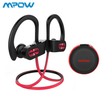 Mpow Flame IPX7 Waterproof Bluetooth 4.1 Headphones Noise Cancelling Earphone HiFi Stereo Wireless Sports Earbuds with Mic Case
