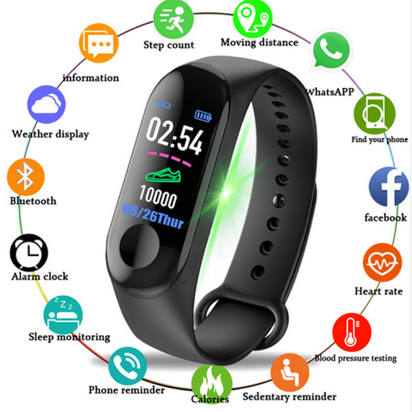 2019 New Smart Sports Watches Color Screen Pedometer fitness Bluetooth Smartwatch For Men Women Bracelet Wristwatch IP67