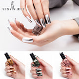 6ML Mirror Effect Metallic Long Lasting Nail Polish Purple Rose Gold Silver Chrome Nail Art Varnish For Nails Manicure Lacque