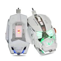 Game Mouse LED Backlight Optical Gaming Mouse 8 Botão 4000 DPI Computador Mouse para PC Portátil Gamer