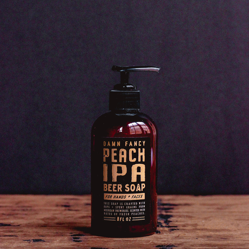 Damn Handsome Grooming Co. - Peach IPA Beer Soap Pump