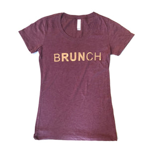 bRUNch Rose Gold Foil Tee