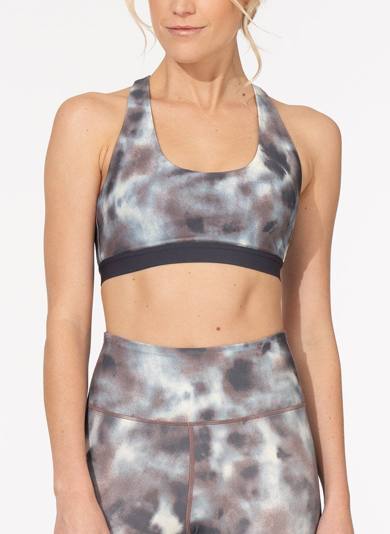 Printed Basic T-Back Sports Bra