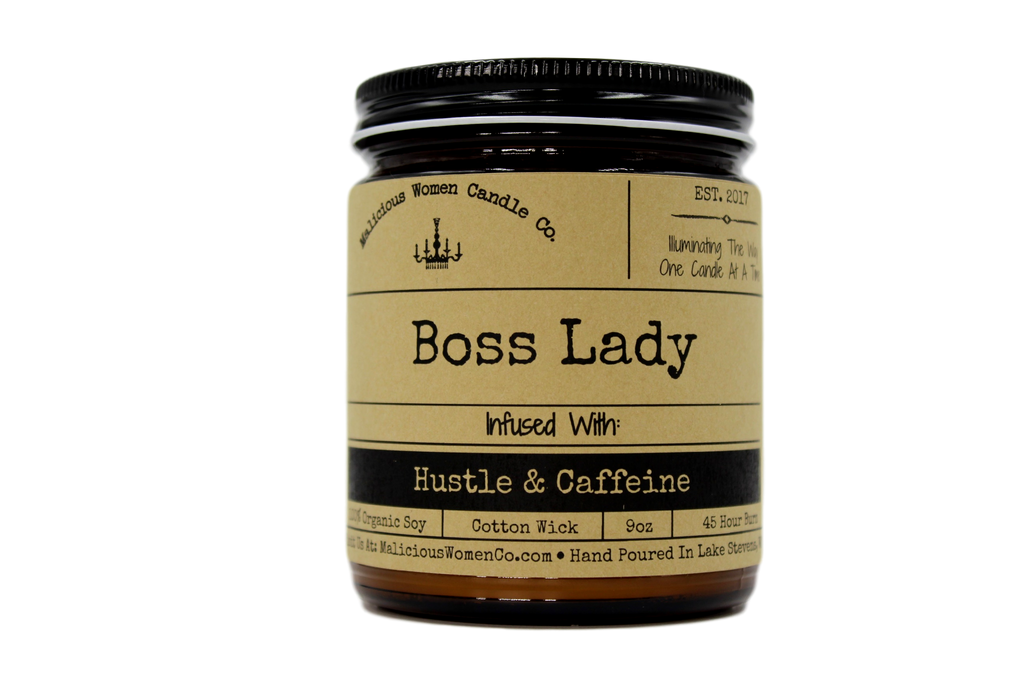 Malicious Women Candle co - Boss Lady - Infused with Hustle & Caffeine