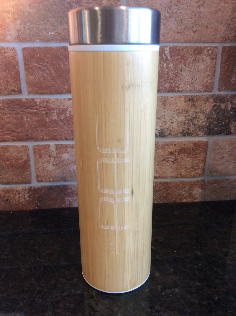 Bamboo Insulated & Infusing Branded Water Bottle - 18oz