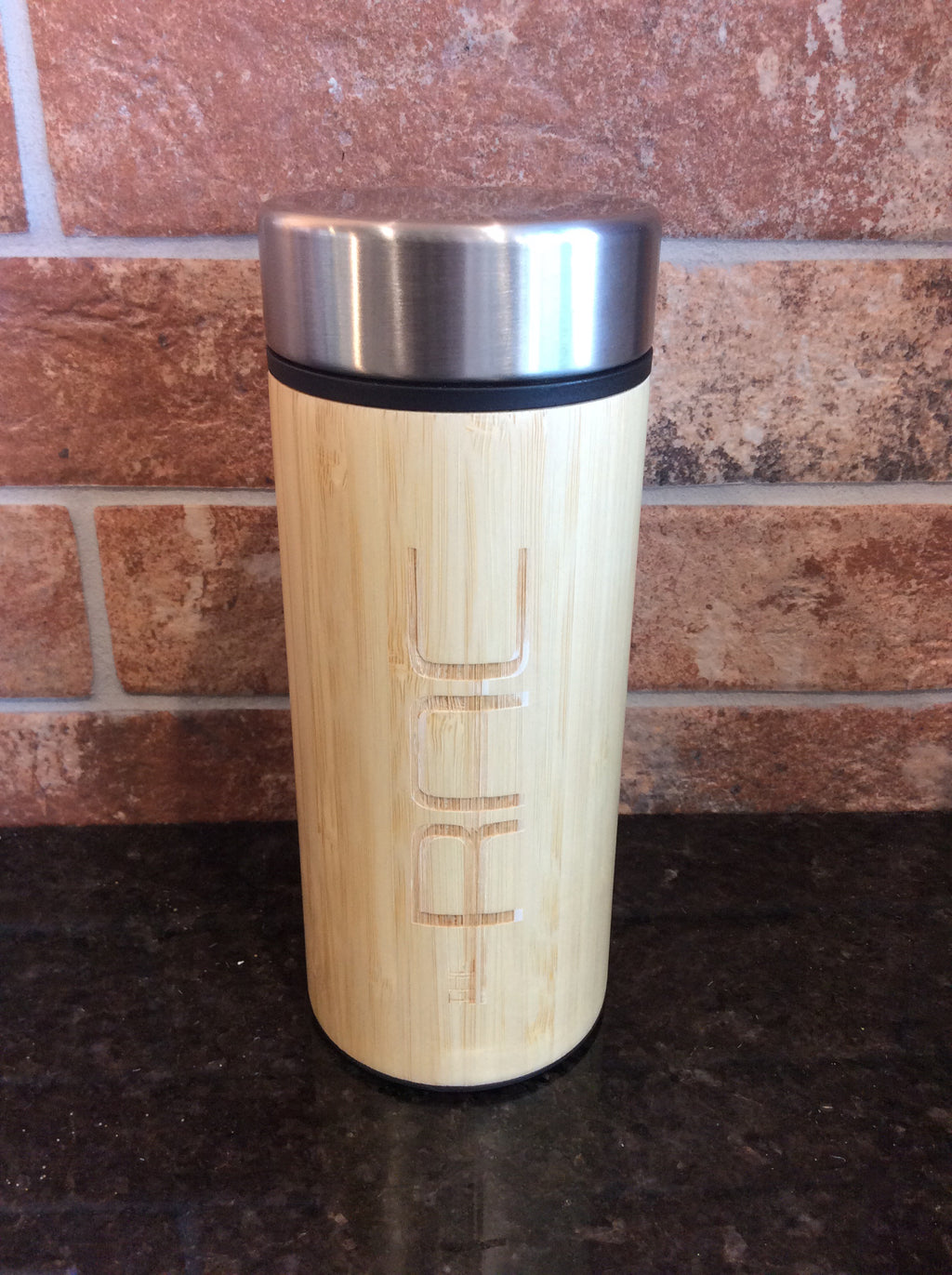 Bamboo Insulated & Infusing Branded Water Bottle - 12oz