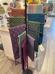 Scarves and cowls available at Dandelions and Rust