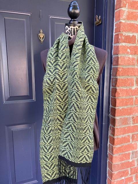 Leaves Overshot scarf