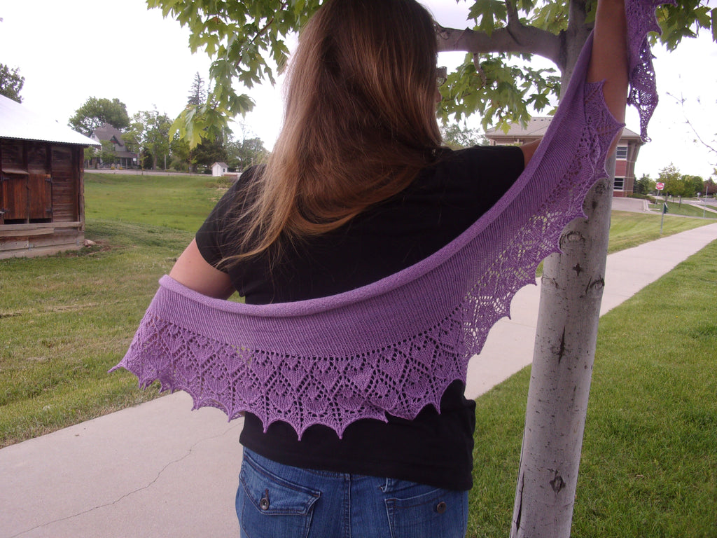 Hearts and Flowers Shawl