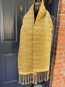 Tiger Eye Overshot scarf