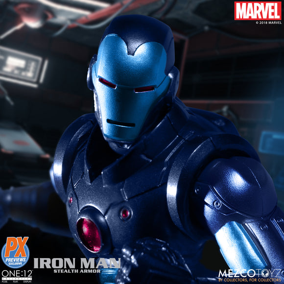 Mezco One:12 Collective - PX Previews Exclusive Stealth Armor Iron Man