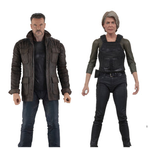 "NECA Terminator: Dark Fate – 7"" Scale Action Figure – T-800 and Sarah Connor Set"