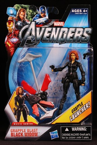 Marvel The Avengers Movie Grapple Blast Black Widow 3.75 Inches