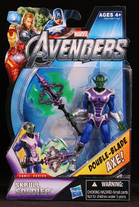 Marvel  The Avengers Comic 4 Inch Skrull Soldier Double Blade Axe!