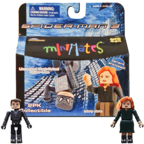 Marvel Minimates Series 18 Spider-Man 3 Unmasked Black-Suited Spider-Man and Mary Jane