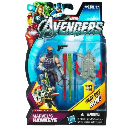 Marvel The Avengers Movie Comic Series Hawkeye #05 3.75 Inches