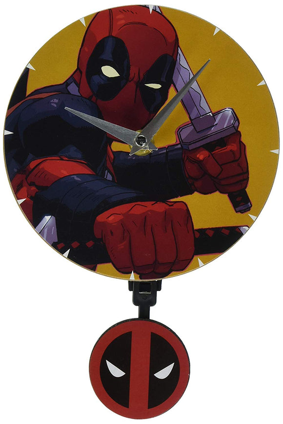 Marvel's Deadpool Wall Clock with 3D Pendulum