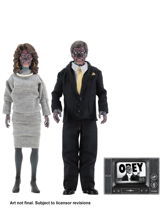 NECA They Live – 8″ Clothed Action Figures – 2 Pack